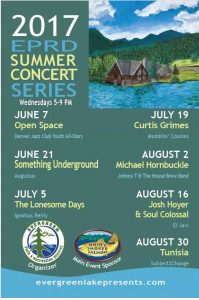 Evergreen lake concert schedule